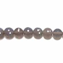 GREY AGATE 12MM FACETED ROUND