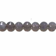 GREY AGATE 14MM FACETED ROUND