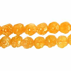 HONEY JASPER FLOWER 12MM