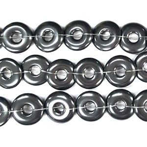 HEMATITE LOOSE DONUT 14MM
