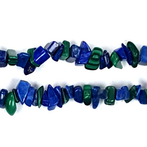 LAPIS AND MALACHITE CHIPS ( 5 STRS)