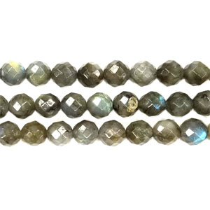 LABRADORITE FACETED ROUND 10MM