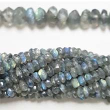 LABRADORITE FACETED ROUNDELLE 5-6MM