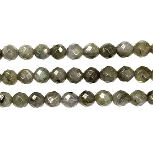 LABRADORITE FACETED ROUND 08MM
