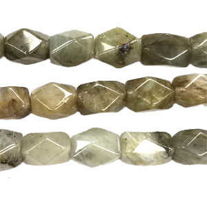 LABRADORITE FACETED NUGGET 8X12MM
