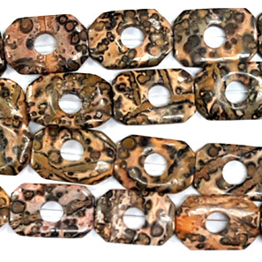 LEOPARD SKIN RECTANGLE HOLLOW 20X30MM