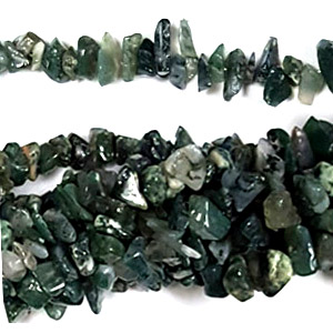 MOSS AGATE CHIPS ( 5 STRS)