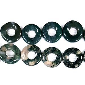 MOSS AGATE DONUT 26MM