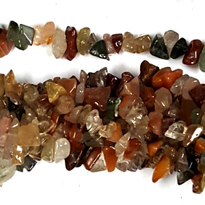 RUTILED QUARTZ MULTI CHIPS ( 5 STRS)