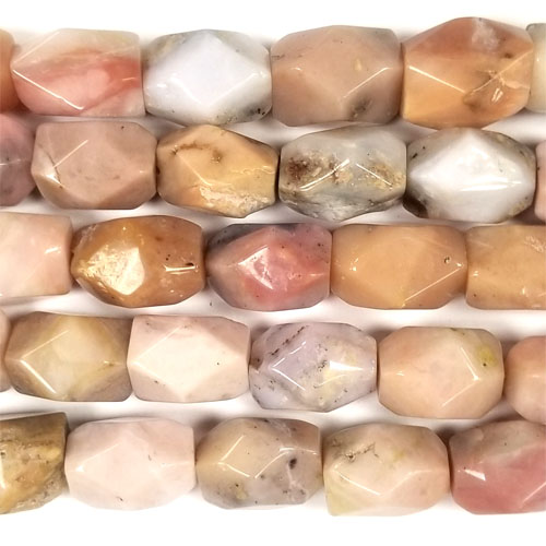 PINK OPAL FACETED NUGGET 18X25MM