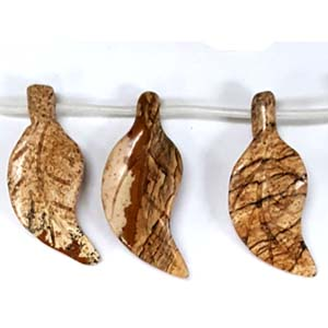 PICTURE JASPER 3D LEAF 15X34MM