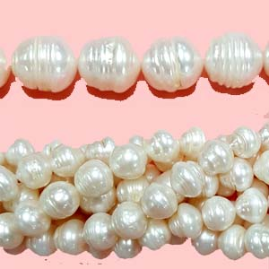 FRESHWATER PEARL POTATO 12-13MM WHITE