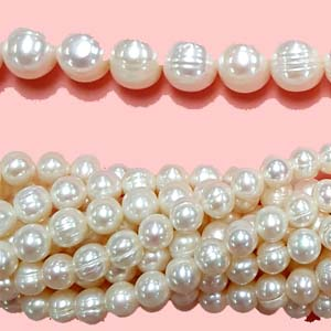 FRESHWATER PEARL POTATO 08.5-9MM WHITE