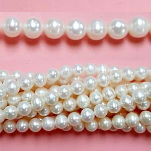 FRESHWATER PEARL POTATO 07-8MM WHITE