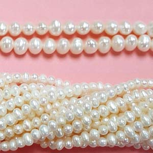 FRESHWATER PEARL POTATO 04-4.5MM WHITE