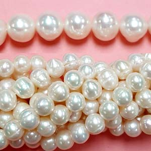 FRESHWATER PEARL POTATO 10-10.5MM WHITE