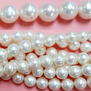 FRESHWATER PEARL POTATO 11-12MM WHITE
