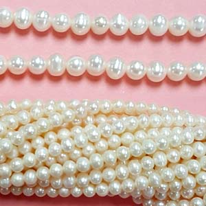 FRESHWATER PEARL POTATO 04.5-5MM WHITE