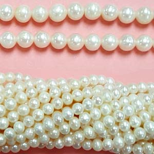 FRESHWATER PEARL POTATO 05-5.5MM WHITE