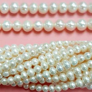 FRESHWATER PEARL POTATO 06-6.50MM WHITE