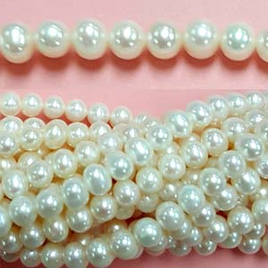 FRESHWATER PEARL POTATO 06-6.5MM WHITE