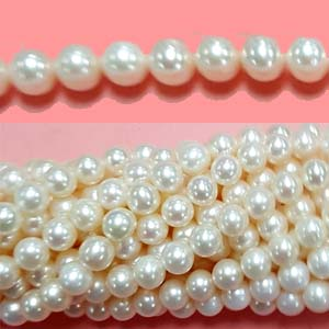 FRESHWATER PEARL POTATO 07-7.5MM WHITE