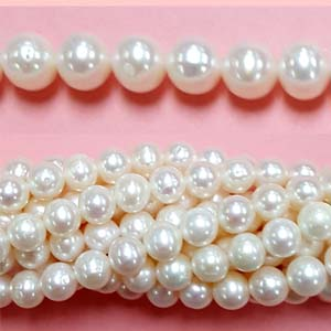 FRESHWATER PEARL POTATO 07.5-8MM WHITE