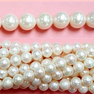 FRESHWATER PEARL POTATO 09-10MM WHITE