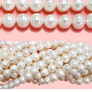 FRESHWATER PEARL POTATO 09-9.5MM WHITE