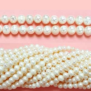 FRESHWATER PEARL POTATO 04-5MM WHITE
