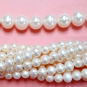 FRESHWATER PEARL POTATO 08-8.5MM WHITE