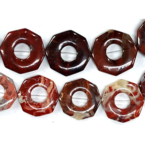 POPPY JASPER OCTANGLE HOLLOW 26MM
