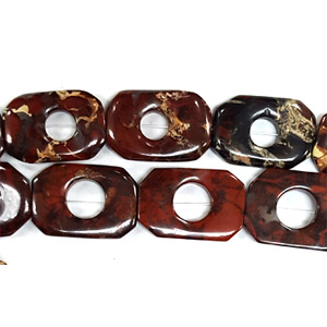 POPPY JASPER RECTANGLE HOLLOW 20X30MM