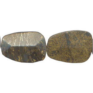 BRONZITE D. FACETED FREEFORM 28X40MM