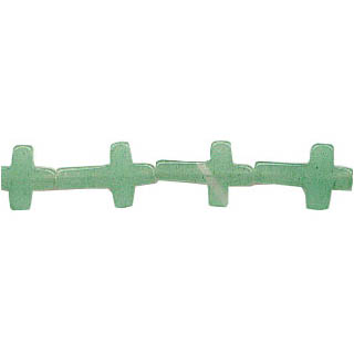 AVENTURINE CROSS 10X15MM