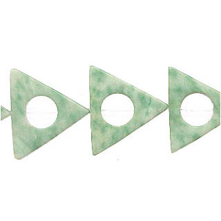 CHINA JADE TRIANGLE HOLLOW 16MM