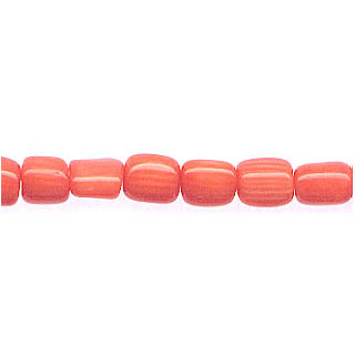 TUBE 7-8MM DYED PINK CORAL