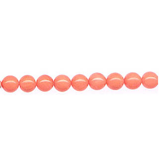 ROUND 6MM DYED PINK CORAL