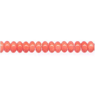 ROUNDEL 5MM DYED PINK CORAL