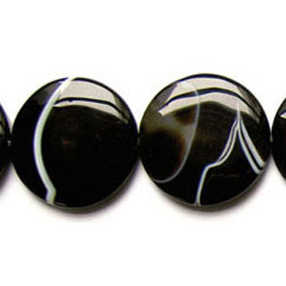 BLACK STRIPE AGATE DISC 30MM