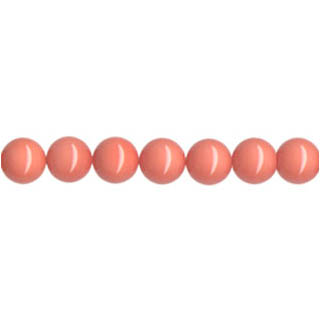 SHELL PEARL PL243 10MM SALMON CORAL