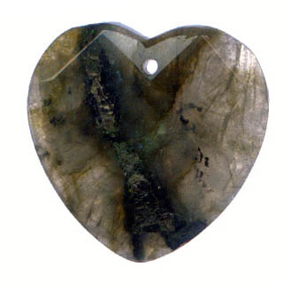 FACETED HEART 35MM LABRADORITE