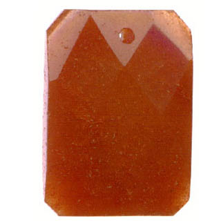 FACETED RECTANGLE 22X30MM DARK CARNELIAN