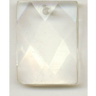 FACETED RECTANGLE 22X30MM CRYSTAL