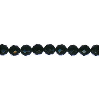 BLACK ONYX FACETED ROUND 06MM