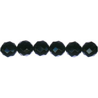 BLACK ONYX FACETED ROUND 08MM