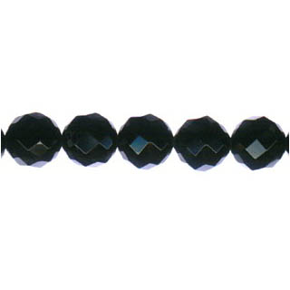 BLACK ONYX FACETED ROUND 10MM