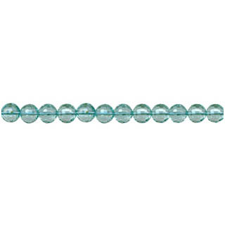 AQUAMARINE QUARTZ FACETED ROUND 04MM