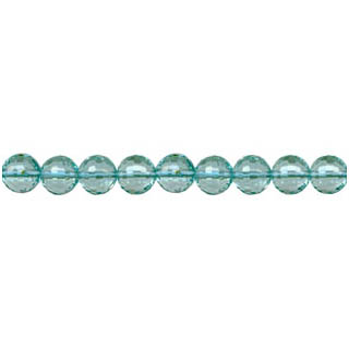 AQUAMARINE QUARTZ FACETED ROUND 06MM