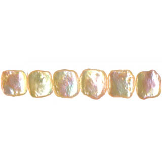 FRESHWATER PEARL SQUARE 10MM NATURAL PEACH